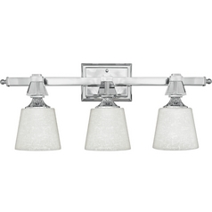 Modern Bathroom Light in Polished Chrome Finish