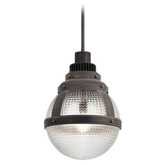 Kichler Lighting Gavin Weathered Zinc Pendant Light with Bowl / Dome Shade