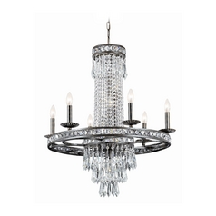 Crystal Chandelier in English Bronze Finish