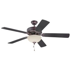 Craftmade Pro Builder 202 Oiled Bronze Ceiling Fan with Light
