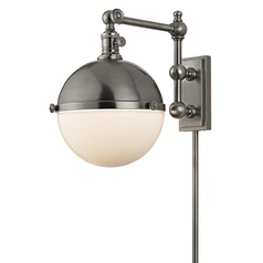 Stanley 1 Light Swing Arm Lamp - Antique Nickel