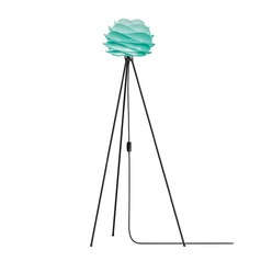 UMAGE Matte Black Floor Lamp with Abstract Shade