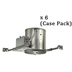 6-Inch Economy Recessed Can for New Construction - Case Pack of Six