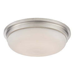 13-Inch Satin Nickel Modern LED Flushmount Indoor Ceiling Light