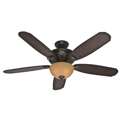 Hunter Fan Company Markley Onyx Bengal Ceiling Fan with Light