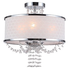 Crystorama Lighting Allure Polished Chrome Semi-Flushmount Light