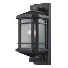 Elk Lighting Lowell Black Outdoor Wall Light - 13-Inches Tall