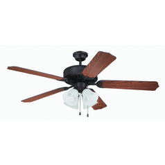 Craftmade Pro Builder 203 Aged Bronze Brushed Ceiling Fan with Light