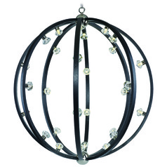Maxim Lighting Equinox LED Textured Black / Polished Nickel LED Pendant Light