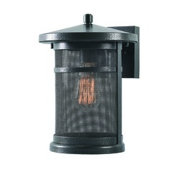 Seeded Glass Outdoor Wall Light Black Mesh Kenroy Home Lighting