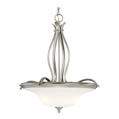 Sonora Satin Nickel Pendant Light with Bowl / Dome Shade by Vaxcel Lighting