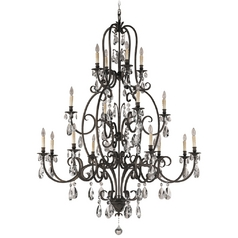 Crystal Chandelier in Aged Tortoise Shell Finish