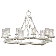 Fine Art Lamps Liaison Platinized Silver Leaf Chandelier