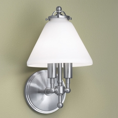 Norwell Lighting Lenox Brush Nickel Sconce