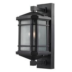 Elk Lighting Lowell Black Outdoor Wall Light - 17 Inches Tall