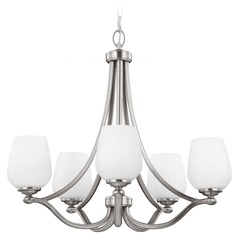 Feiss Vintner 5-Light Chandelier in Satin Nickel