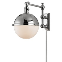 Stanley 1 Light Swing Arm Lamp - Polished Nickel