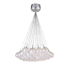Modern Low Voltage Multi-Light Pendant Light with Clear Glass and 37-Lights