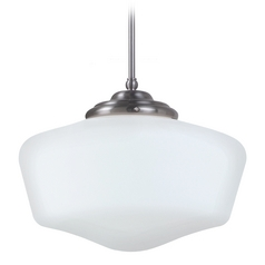 Schoolhouse Pendant Light Brushed Nickel Academy by Sea Gull Lighting