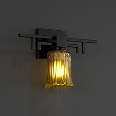 Justice Design Group Veneto Luce Collection Matte Black Sconce