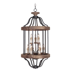 Craftmade Ashwood Textured Black / Whiskey Barrel Pendant Light