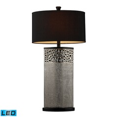 Dimond Lighting Silver Plated LED Table Lamp with Oval Shade