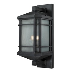 Elk Lighting Lowell Black Outdoor Wall Light - 20-Inches Tall