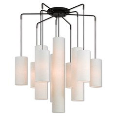 Livex Lighting Strathmore Bronze Multi-Light Pendant with Cylindrical Shade