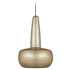 UMAGE Brushed Brass / Black Pendant Light with Brushed Brass Metal Shade
