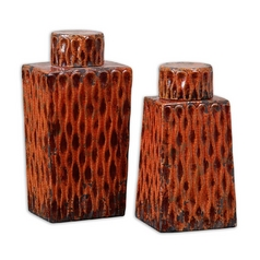 Uttermost Lighting Vase in Burnt Orange Finish 19504