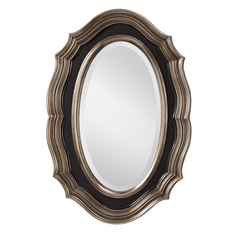 Feiss Lighting Julia Oval 23-Inch Mirror MR1123ASL/BK