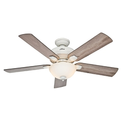 Hunter Fan Company Matheston Cottage White Ceiling Fan with Light
