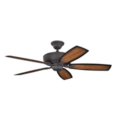 Kichler Lighting Monarch II Patio Distressed Black Ceiling Fan Without Light