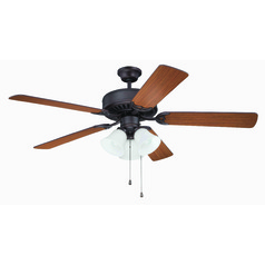 Craftmade Pro Builder 205 Aged Bronze Brushed Ceiling Fan with Light