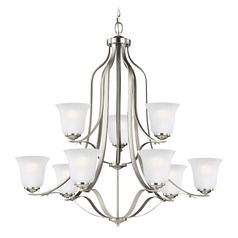 Sea Gull Lighting Emmons Brushed Nickel LED Chandelier