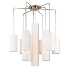 Livex Lighting Strathmore Brushed Nickel Multi-Light Pendant with Cylindrical Shade
