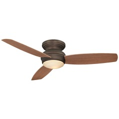 52-Inch Minka Aire Traditional Concept Oil Rubbed Bronze LED Ceiling Fan with Light