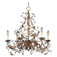 CCrystal handelier in Etruscan Gold Finish