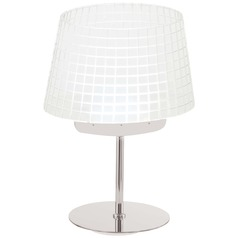 George Kovacs Chrome LED Table Lamp with Empire Shade