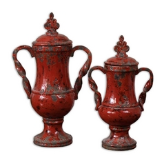 Uttermost Lighting Vase in Red Finish 19505