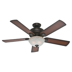 Hunter Fan Company Matheston Onyx Bengal Ceiling Fan with Light