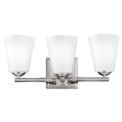 Feiss Lighting Pave Polished Nickel Bathroom Light