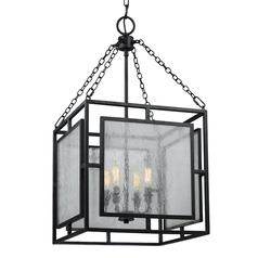 Feiss Lighting Prairielands Dark Weathered Zinc Pendant Light