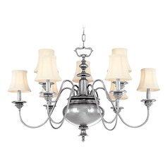 Hudson Valley Yorktown 2-Tier 9-Light Chandelier in Polished Nickel