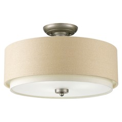 Progress Lighting Ashbury Silver Ridge Semi-Flushmount Light