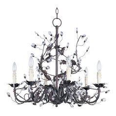 Maxim Lighting Elegante Oil Rubbed Bronze Crystal Chandelier