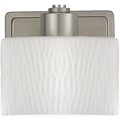 Quoizel Lighting Modern Bathroom Light with White Glass in Empire Silver Finish PF8601ES