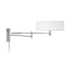 Sonneman Lighting Modern Pin-Up Lamp with White Shades in Satin Nickel Finish 7002.13