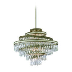 Corbett Lighting Diva Silver Leaf W/gold L Island Light