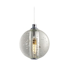 Harmony Polished Chrome LED Mini-Pendant Light with Globe Shade